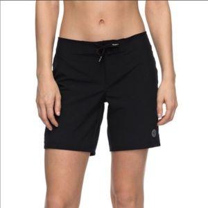 Roxy Black Drawstring Board Shorts Medium